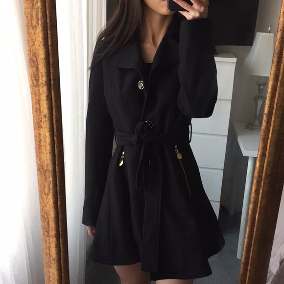 new selection good service quality design *BRAND NEW* Black INC Skirted Peacoat